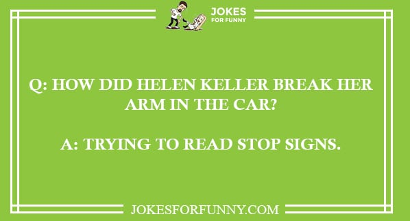 best helen keller jokes