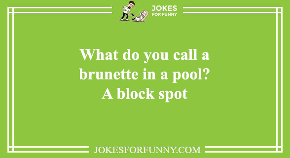 funny brunette jokes
