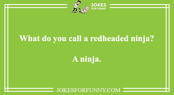 red head jokes